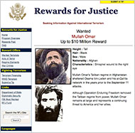 Wanted poster for Mullah Muhammed Omar